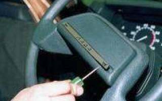 Как разобрать рулевую колонку ВАЗ 2110