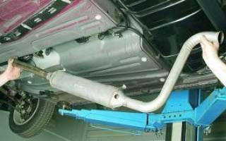 Как поменять глушитель на ВАЗ 2110?