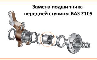 Размер подшипника передней ступицы ВАЗ 2109