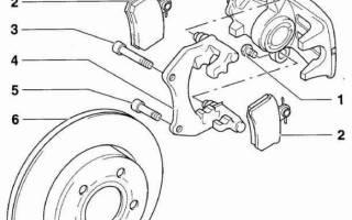 Замена задних тормозных колодок пассат б7