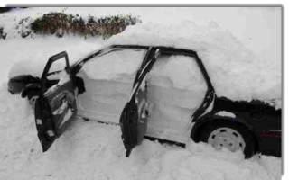 Поставить машину в гараж на зиму