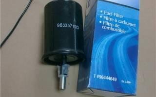 Замена топливного фильтра лачетти хэтчбек
