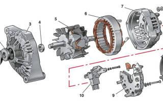 Замена щеток генератора на рено логан