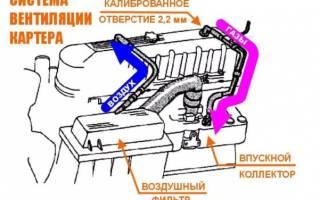 Вентиляция картерных газов ВАЗ 2110 16 клапанов