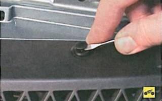 Как снять передний бампер лансер 9